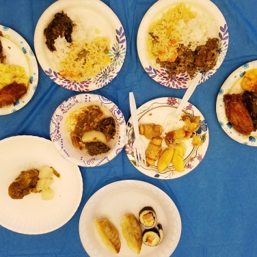 Various dishes from Day of Unity.