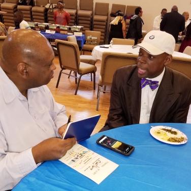 Clyde Hughes interviews Rev. R. Fulton Hargrove.