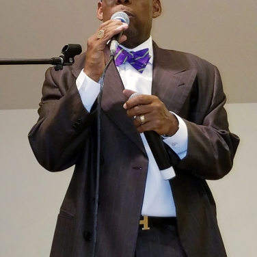 Rev. R. Fulton Hargrove speaks.