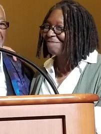 Whoopi Goldberg at Atlantic City museum fundraiser.