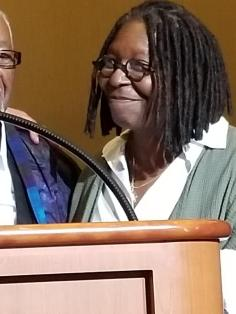 Whoopi Goldberg at Atlantic City museum fundraiser.